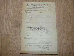 Karl Wagner Biergrosshandlung Friedrichsthal Rechnung 1952 Germany - Germania