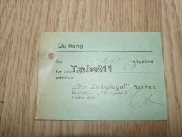 Der Zeitspiegel Saarbrücken Quittung Germany - Germania