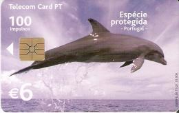 TARJETA DE PORTUGAL DE UN DELFIN DE TIRADA 31000 (DOLPHIN) - Dauphins