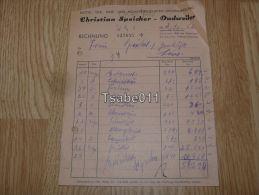 Christian Speicher Dudweiler Butter Eier Kase Und Molkereiprodukten 1952 Germany - Alemania