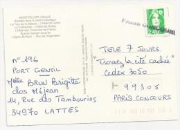 Griffe Linéaire PARIS CONCOURS Sur Marianne Du Bicentenaire - Cachets Manuels