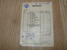 Aral Quittung Bv-Oel Spezial Minden Rechnung 1954 Germany - Germania