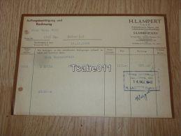 H. Lampert Saarbrücken Dudweiler Rechnung 1948 Germany - Germania