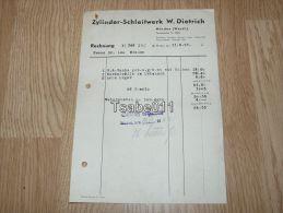 Zylinder Schleifwerk W. Dietrich Minden 1953 Rechnung Germany - Germania