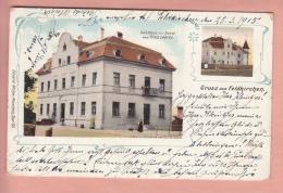 OLD  POSTCARD GERMANY DEUTSCHLAND  GRUSS AUS FELDKIRCHEN GASTHAUS ZUR SONNE VON FRITZ LEHRER - Germany