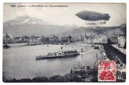Luzern - Luftschiffahrt Am Vierwaldstettersee - Ville De Lucerne - - Dirigeables