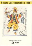 BRD Bonn Deutsche Bundespost Unsere Jahresvorschau 1988 Abbildung Mi. 1349 150 Jahre Karneval Mainz - Amministrazioni Postali
