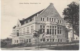 Bloomington Indiana, Public Library Building, Architecture, C1900s Vintage Postcard - Bloomington