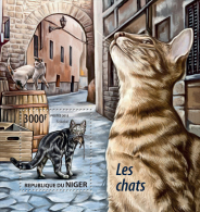NIGER 2015 - Cats S/S. Official Issue - Domestic Cats