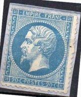 France  N° 22 Neuf Sur Fragment Cote 100€ Départ à  19,00 Euros !! - 1862 Napoleon III