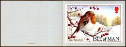 Ile De Man Yv 386  Oiseau-Robin  Oblitéré Sur Carte De Voeux - Isola Di Man