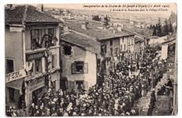 Inauguration De La Statue De Saint-Joseph D'Espaly (-Saint-Marcel), L'arrivée De La Procession Dans Le Village D'Espaly - Autres Communes