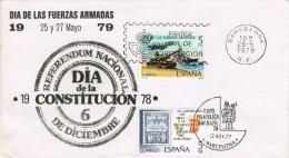 12706. Carta Barcelona 1979. Dia Fuerzas Armadas Y Barnafil 79 - 1931-Hoy: 2ª República - ... Juan Carlos I