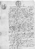 Acte  Peut-être Vente Propriété Place Concorde à VESOUL (70) De 1820, 3 Feuilles - Manuscripts