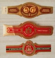X63 Bague Bagues Cigare Cigares  Tinchant Gonzales  3 Pièce(s) - Bagues De Cigares