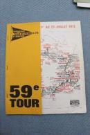 CYCLISME     TOUER  DE  FRANCE     1972      PROGRAMME. - Cycling
