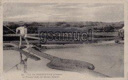 Ile De Noirmoutier, Le Travail Dans Les Marais Salants  - (voir Scan) - Ile De Noirmoutier