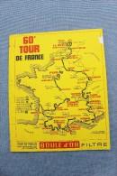 CYCLISME     TOUER  DE  FRANCE     1973     PROGRAMME. - Cycling