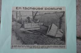 Coupure De Presse 1962 Accident Camion Minoterie MARTIN SANDERS LE DONJON Allier 03 - Documents Historiques