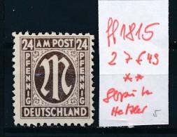 Britische Zone Nr. 27 F49    **  Plattenfehler-Abart Bitte Lesen (ff1815   ) Siehe Scan ! - Zone Anglo-Américaine