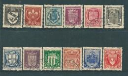 France Timbres De 1941 Blasons N°526 A 537  Oblitéré - Oblitérés