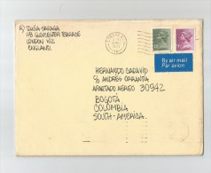 1979 GRAN BRETAÑA, CARTA VOLADA CORREO AEREO, DE INGLATERRA A BOGOTA, COLOMBIA - 1952-.... (Elizabeth II)