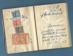 MARCA DA BOLLO IGE - 229 PEZZI  SU UN BLOCCO DI 50  RICEVUTE 1948/54 - COMBINAZIONI TUTTE DIVERSE - 1946-.. République