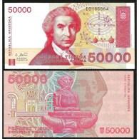 CROATIA : 50000  Dinara  Del 1993  Pick 26   FdS   UNC - Croatia