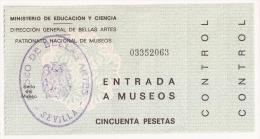 Entrada Al MUSEO DE BELLAS ARTES - Documentos Antiguos