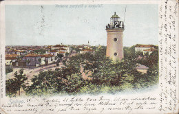Romania PPC Sulina Leuchtturm Lighthouse Pfare SULINA 1901 To Denmark Simple Backside Litho (2 Scans) - Romania