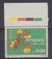Uruguay 1975 Orchids 1v Margin With Traffic Lights ** Mnh (21539) - Uruguay