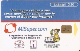 TARJETA DE GUATEMALA DE MISUPER.COM (LADATEL) - Guatemala