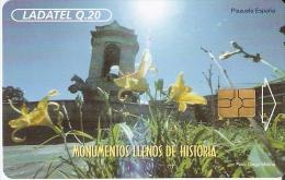 TARJETA DE GUATEMALA DEL MONUMENTO DE CARLOS III  CON CHIP NEGRO (LADATEL) - Guatemala