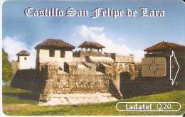 TARJETA DE GUATEMALA DEL CASTILLO DE SAN FELIPE DE LARA CON CHIP ROJO (LADATEL) - Guatemala