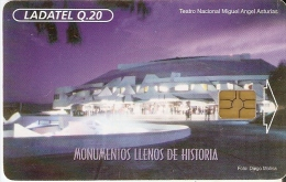 TARJETA DE GUATEMALA DEL TEATRO NACIONAL MIGUEL ANGEL ASTURIAS (LADATEL) - Guatemala