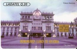 TARJETA DE GUATEMALA DEL PALACIO NACIONAL (LADATEL) - Guatemala
