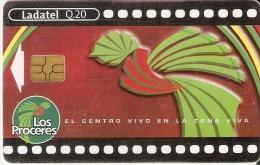 TARJETA DE GUATEMALA DEL CINE LOS PROCERES (LADATEL) CINEMA - Guatemala