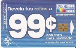 TARJETA DE GUATEMALA DE LADATEL DE FOTO KONICA (PHOTO) - Publicidad