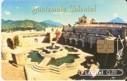 TARJETA DE GUATEMALA DEL TEMPLO Y CONVENTO DE LA MERCED (LADATEL) - Guatemala