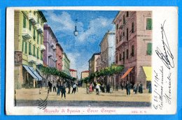 LIP118, Ricordo Di Spezia, Corso Cavour, Précurseur, Circulée 1906 Sous Enveloppe - La Spezia