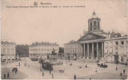 CPA - AK Bruxelles Brüssel Place Royale Monument Godefroid De Bouillon Eglise St Jacques Tram Tramway Belgien Belgique - Vervoer (openbaar)