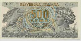 ITALY  P. 93a 500 L 1966    AUNC - 500 Lire