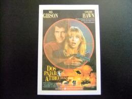 PROGAMA DE CINE - Título: DOS PAJAROS A TIRO - BIRD ON A WARE - Año 1989 - Director: JOHN BADHAM - Publicidad