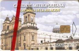 TARJETA DE GUATEMALA DE LA CATEDRAL METROPOLITANA  (LADATEL) NUEVA-MINT - Guatemala