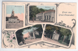 Gruß Aus Groß Enzersdorf Bei Gänserndorf Uferhaus Kirche Wienertor Kapelle 2.9.1915 Gelaufen - Gänserndorf