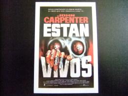 PROGAMA DE CINE - Título : ESTAN VIVOS - THEY LIVE - Año 1988 - Director: JOHN CARPENTER - Publicidad