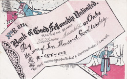 Check From Bank Of Good Fellowship Unlimited, (Fill In The Blank), Mailbox, PU-1907 - Banques