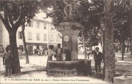 06 SAINT MARTIN DU VAR PLACE NEUVE LA FONTAINE TABACS PAS COURANTE SUPERBE - France