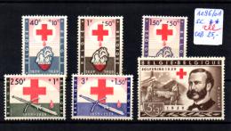 Croix-Rouge, Henri Dunant, 1096 / 1101**, Cote 27,50 €, - Bélgica