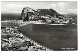 GIBRALTAR - FROM THE AIR (REAL PHOTO N.48-THE ROCK PHOTOGRAPHIC STUDIO) - Gibilterra